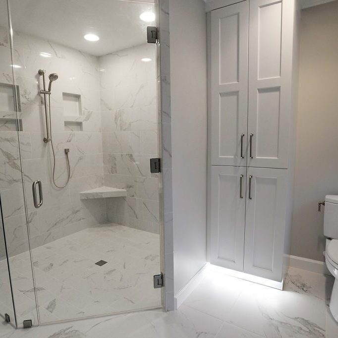Project 9 Designs. Berini Dr. Bathroom, bedroom and closet renovation.